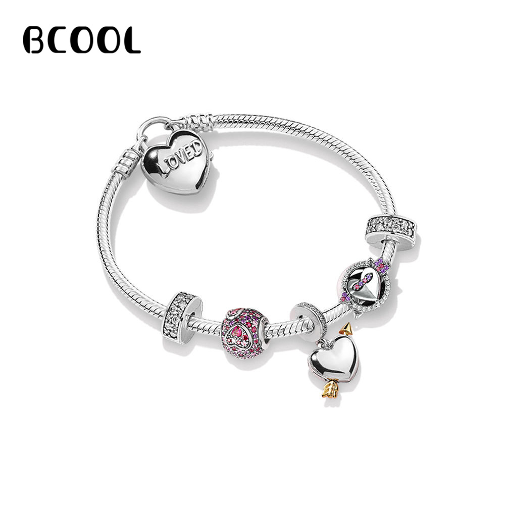 DIY Jewelry Women's Charm Fashion Silver 925 Original Bracelet For Women's New Love Arrow Bracelet Jewelry Gift