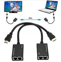 New 2016 2PCS Set HDMI Over RJ45 CAT5e CAT6 Cable LAN Ethernet Balun Extender Repeater 1080p