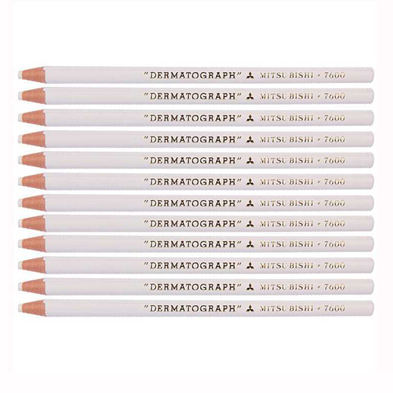 Image 4 - 12pcs/box Japan White Black Dermograph Mitsubishi 7600 UNI Soft Colored Pencils for Tattoo Eyebrow Marker Paint Pencil-in Eyebrow Enhancers from Beauty & Health