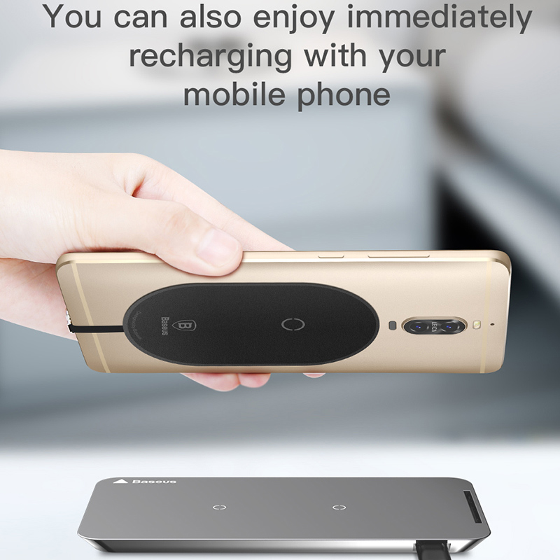 prodotto baseus qi wireless charger receiver for iphone. Black Bedroom Furniture Sets. Home Design Ideas