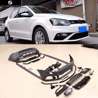 Polo GTI Style car body kit PP Unpainted Auto Car Front Bumper Rear bumper diffuser side skirts For Volkswagen Polo 11 15