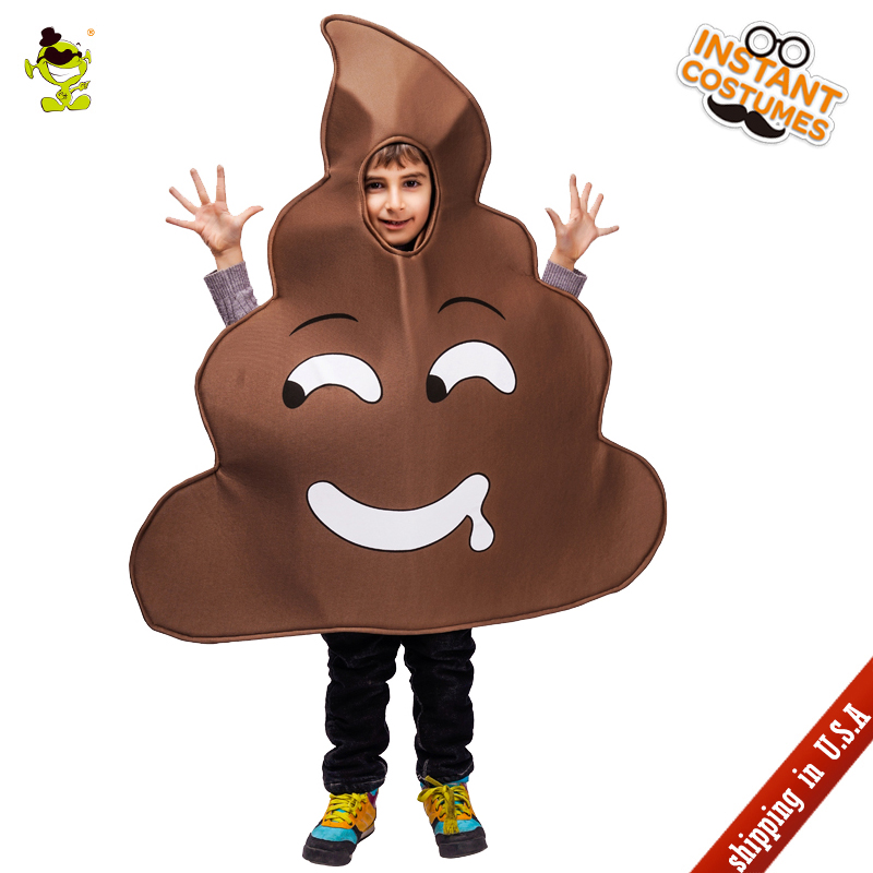 QLQ New Kid's Slobber Poop Costume Cosplay Carnival Party Jumpsuit Performance Poop Costumes for Kids Halloween Party