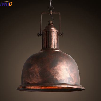 IWHD Loft Vintage Industrial Lighting Iron Pendant Lights American Style Retro Hanging Lamp Ding Kitchen Cafe Luminaire Lamparas american retro pendant lights luminaire lamp iron industrial vintage led pendant lighting fixtures bar loft restaurant e27 black