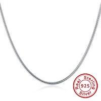 RINYIN 100% 925 Sterling Silver Vòng Cổ cho Nam Giới/Phụ Nữ Đồ Trang Sức Thời Trang 3 mét 18/20/22/24 Inch Round Rắn Chuỗi Vòng Fit Pandora