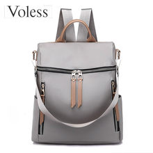 VOLESS Women Backpack Waterproof School For Teenager Girl Large Capacity Fashion Travel Shoulder Zipper Bags
