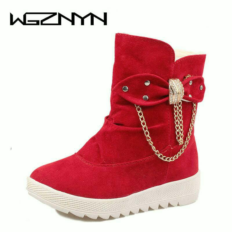 957c1f03d 1 Zapatos 3 Tela Algodón Madre De Wgznyn 2 Señoras Sólidos Otoño  Estudiantes Botas Piel Mujeres ...