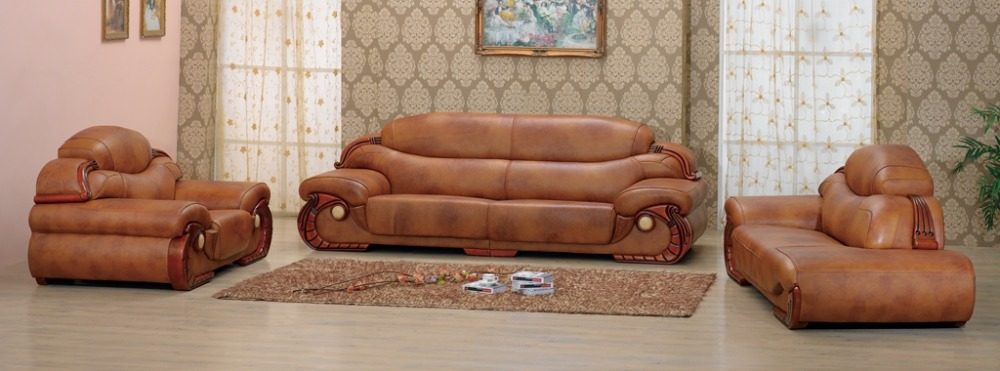 Online buy wholesale leather chesterfield from china for European leather sofa