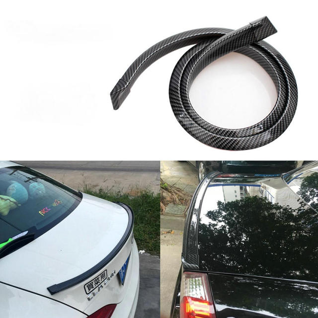 Universal Carbon Fiber Front lip Splitter Kinn Spoiler Seite Rock Körper Kit Trim für Audi BMW Volkswagen Benz 1,5 m