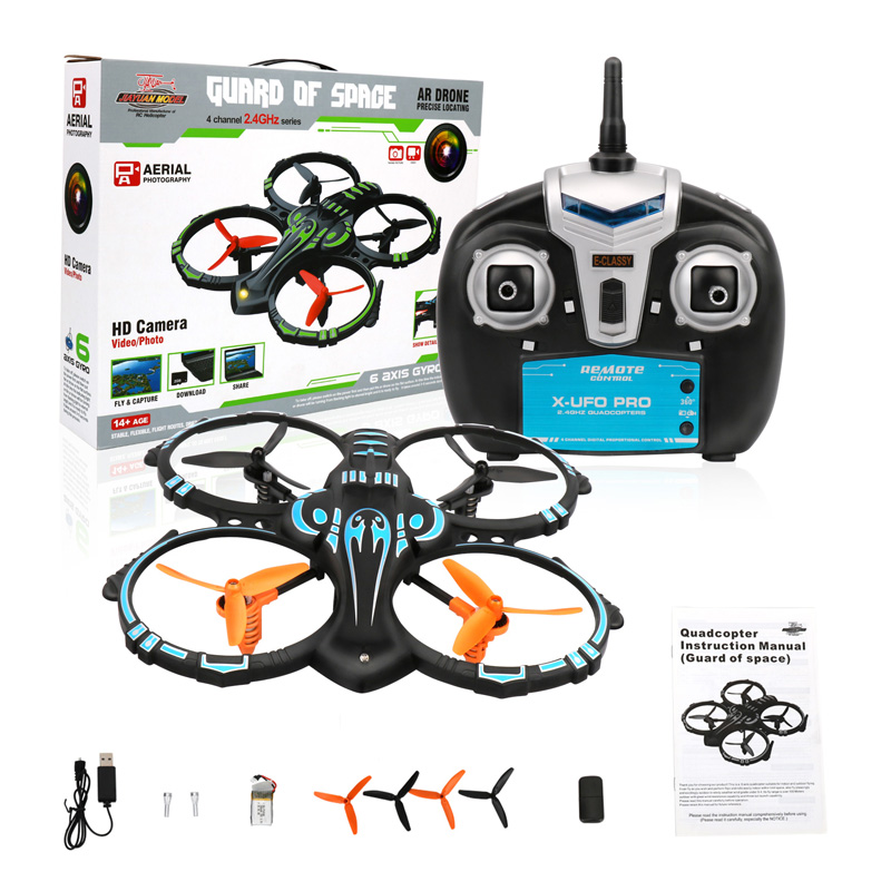 ФОТО Dwi Dowellin S-2 UFO RC Drone with Camera RC Quadcopter Quadrocopter FPV Helicopter with 2.4Ghz Transmitter Remote Control Toys