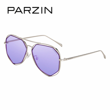 PARZIN Colorful Big Alloy Frame Multilateral Geometry Design Polarized Traveling For Driving Lady Aviator Sunglasses For Women