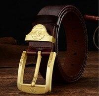 2017 Hot sale brand designer belts men high quality Genuine leather belt for women belt black Gold buckle