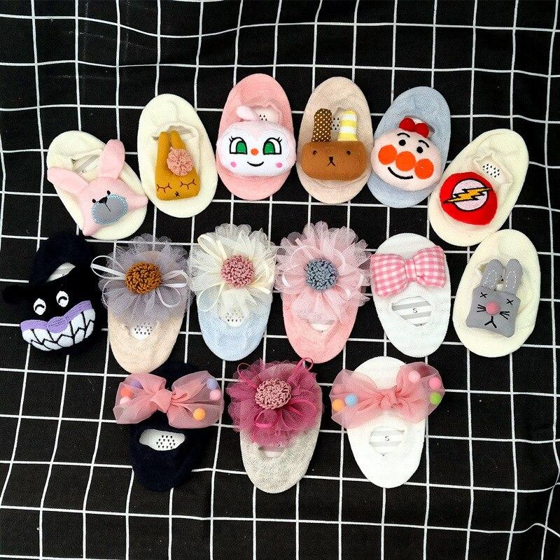 2019 New Spring Summer Princess Baby Socks Floor Socks Lace Flowers And Animal Head Children's Cotton Socks
