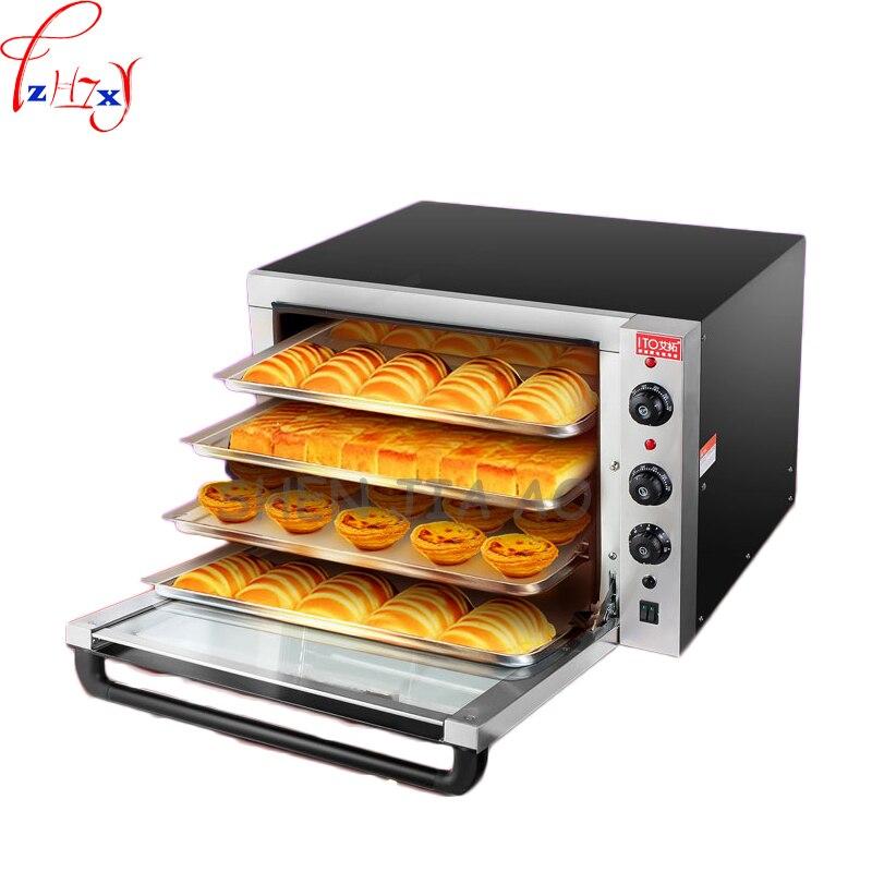 Four électrique Commercial grande capacité gâteau pain pizza four grand garde-manger four Air chaud Circulation four 220 V 4500 W 1 pc