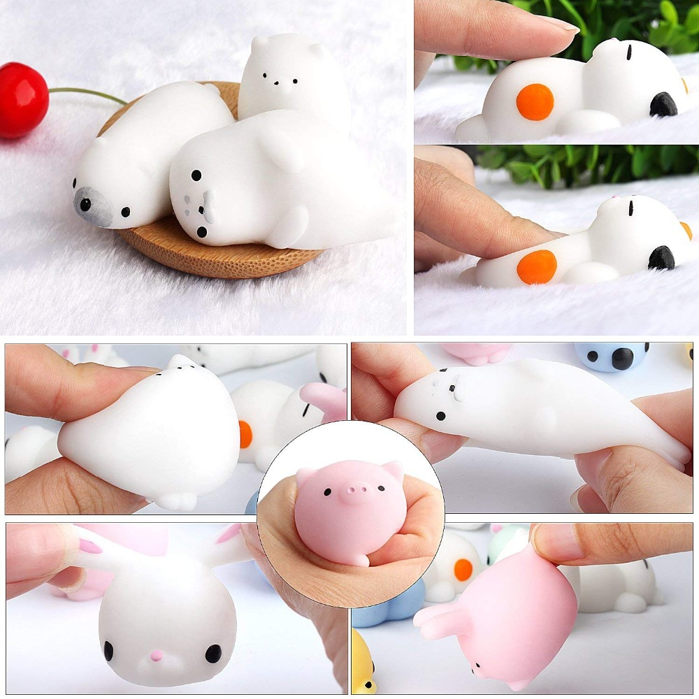 Sweet-Tempered Mini Squishy Cat Seal Rabbit Cute Phone Straps Slow Rising Soft Press Squeeze Kawaii Animal Bread Cake Toy Squishi Diy Accessory Mobile Phone Accessories Mobile Phone Straps