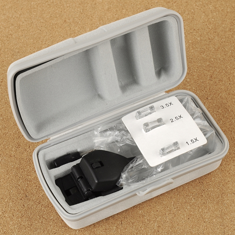 1.5X 2.5X 3.5X Gafas Clip Lupa Lupa de cabeza manos libres con luz - Instrumentos de medición - foto 6