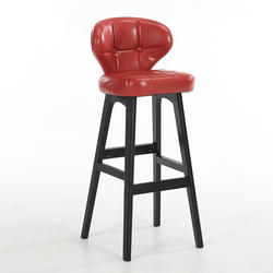Современные простой стул барный Массив дерева Многофункциональный эргономичный высокий стул со спинкой для ног ретро Кофе магазин ПУ бар
