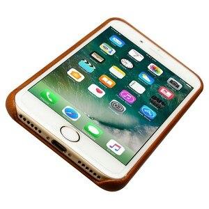 Image 4 - Jisoncase אמיתי עור כיסוי עבור iPhone 7 7 בתוספת מקרה יוקרה חזרה כיסוי Slim נייד טלפון מקרה עבור iPhone 8 8 בתוספת אנטי לדפוק