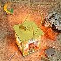 Современный минималистский моды кованого железа соль кристалл лампы спальня ночники диммер творческий жизнь Глаз лампа