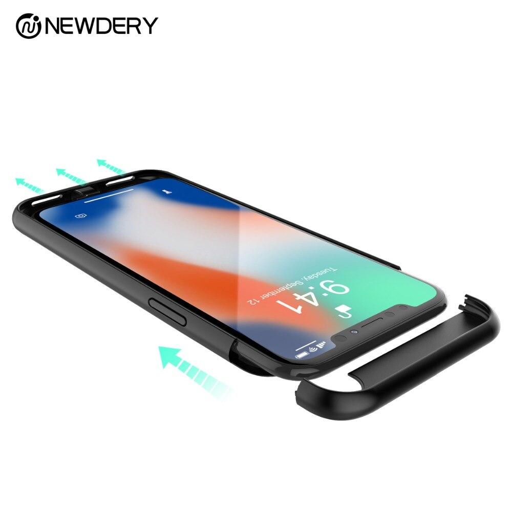 Newdery Soutien écouter musique batterie cas pour l'iphone X 6 + 6 s + 7 + 8 + 5 SE 5C 5S chargeur téléphone cas pour iPhone 10 6 6 s 7 8 Plus