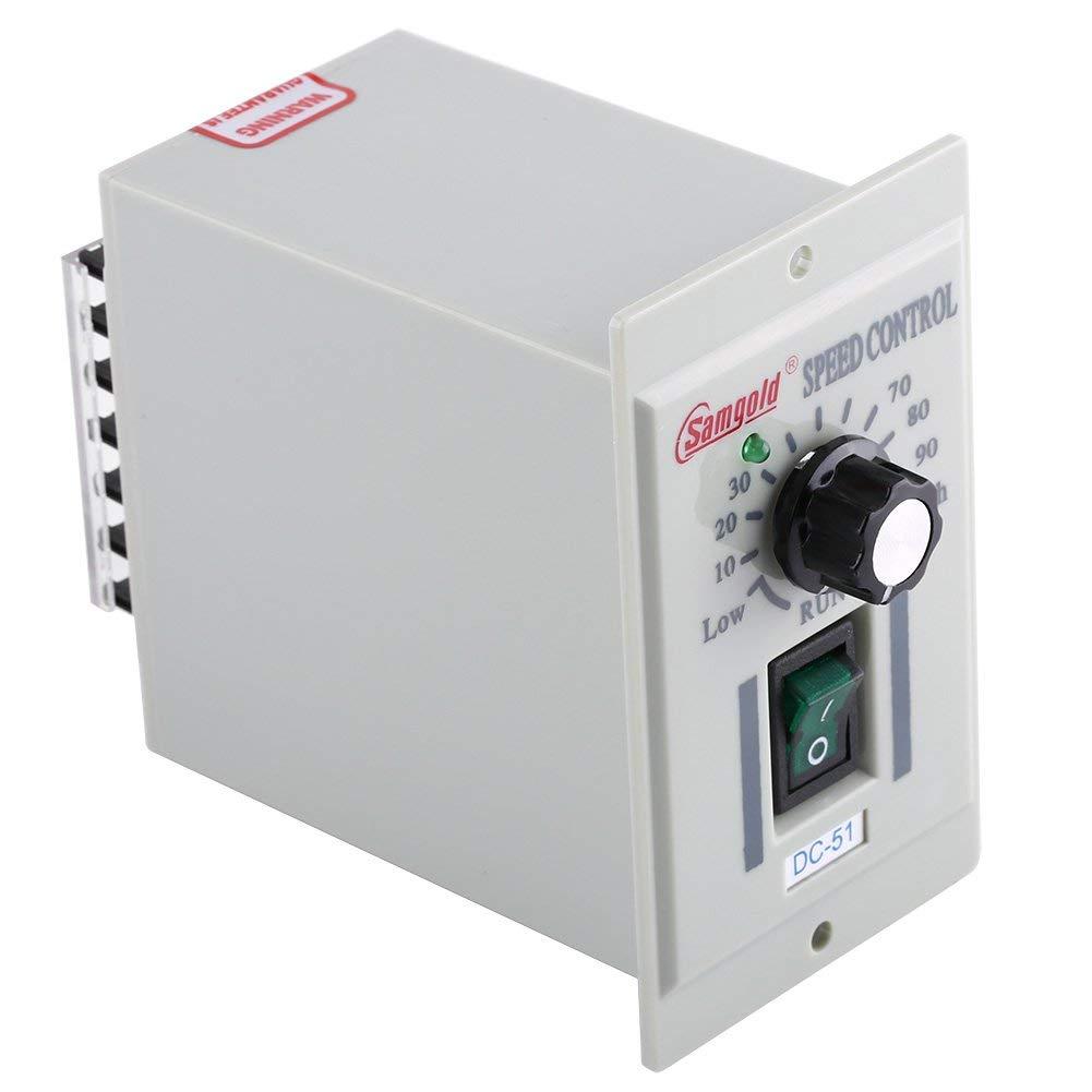AC 110V Input DC 24V-90V Output DC Motor Speed Controller Switch Electric Speed Regulator for Permanent Magnet 400W DC-51 ac 220v input dc 180v output green i o 2 position switch motor speed controller