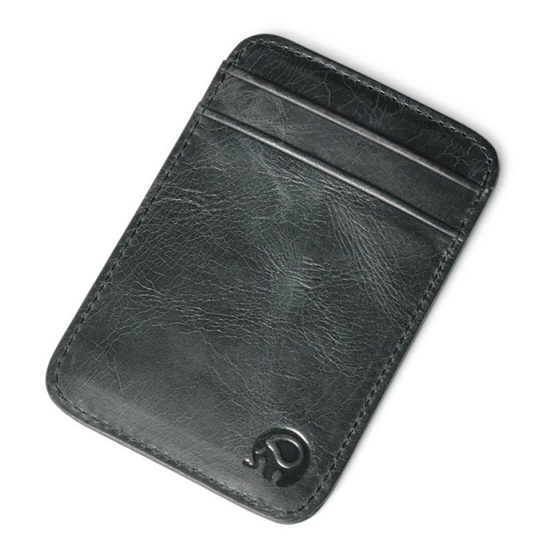 Slim Credit Card Holder Mini Wallet ID Case Purse Bag Pouch Black Business Card Holders Bags Case Wallet Box For Women Men
