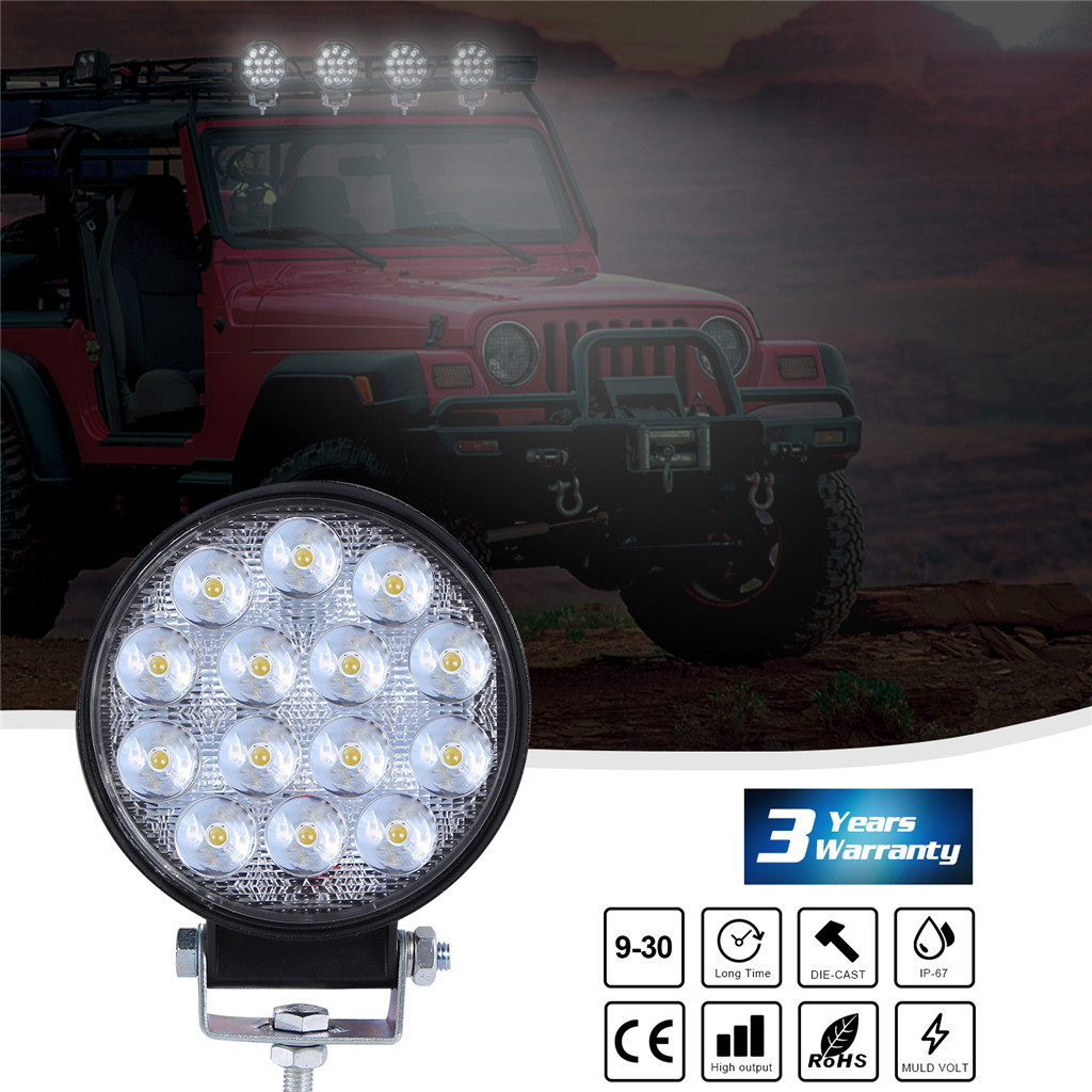 Image 3 - Luces Led Para Auto 2x LED Work Light Pods 4 Inch 140W Round Spot Beam Offroad Driving Light Bar LED Lamps For Cars-in Light Bar/Work Light from Automobiles & Motorcycles