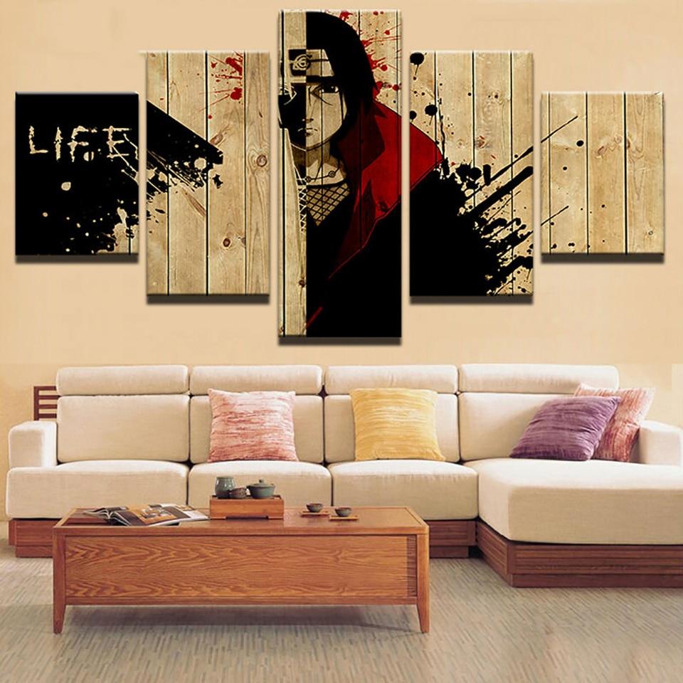Malerei Wandkunst Leinwand Wohnzimmer Modulare Poster 5 Panel Naruto Anime  Boy Rahmen HD Gedruckt Moderne Bilder Wohnkultur