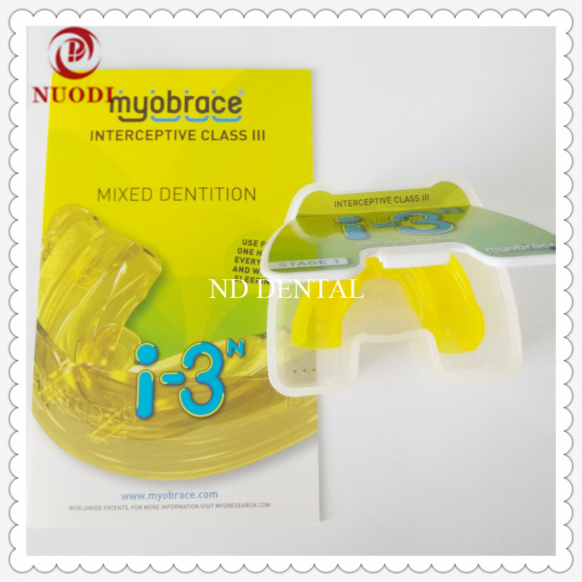 Class III Malocclusion coorection Orthodontic Brace I3N/MRC Orthodontic teeth trainer I3N for Anti-jaw Orthodontic ages 5-8 1pc dental orthodontic study model transparent teeth malocclusion orthodontic model with colorful brackets