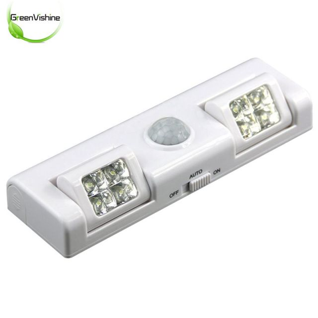 90 Degree 8LED Wireless Motion Sensor Night Light For Cabinet Drawer