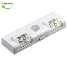 90 Degree 8LED Wireless Motion Sensor Night Light For Cabinet Drawer Staircase
