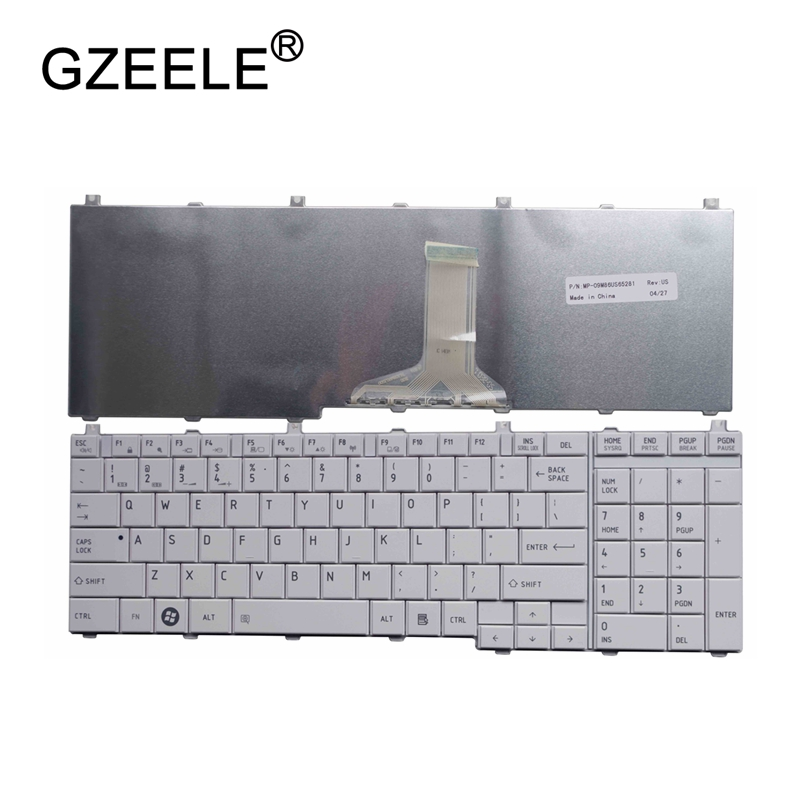 GZEELE английский Клавиатура для ноутбука Toshiba Satellite L670 L670D L675 L675D C660 C660D C655 L655 L655D C650 C650D L650 C670 L750 L750D-in Замена клавиатуры from Компьютер и офис on