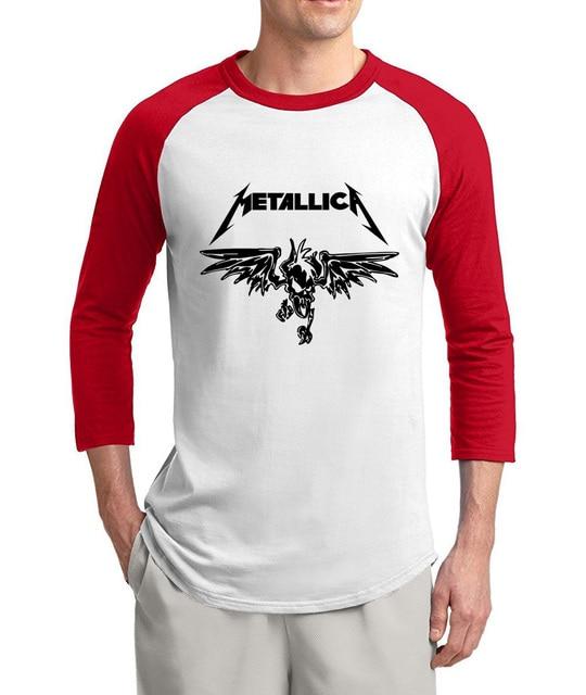 ac30feeb8 Hot Sale Metallica Fear Of God 3/4 sleeve t shirts men 2017 summer 100%  cotton high quality raglan men t-shirt o-neck top tees