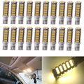 20X W5W T10/921/194 RV Camper Trailer LED Light 68 SMD Interior Bulbs Warm White