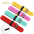 Silicone watchband Rubber strap wristband watches band for Garmin Forerunner235GPS 630 22*15mm Smart bracelet belt Free tools