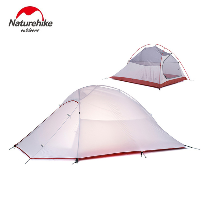 NatureHike 2 Person Waterproof Tent Double-layer Camping Tent  with Skirt Picnic Lightweight 4 seasons Tent  NH15T002-T