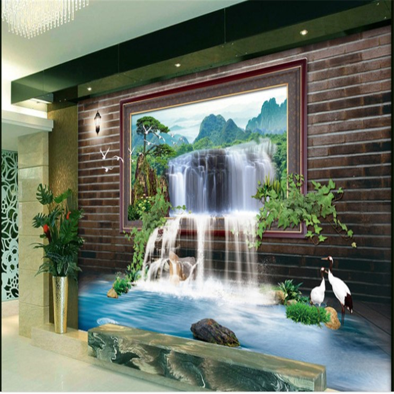 beibehang Large Custom Wallpaper Mural Aesthetic Picture Painting 3D Falls TV Wall wallpaper for walls 3 d papel parede beibehang custom hd mural papel de parede 3d bathroom wallpaper for walls 3 d seaside town harbor wall paper photo wall mural