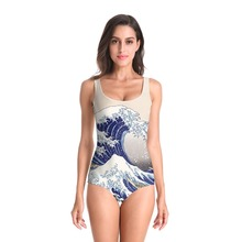 Fashion One Piece Swimsuit Women Swimwear 3D Surf Printed Monokini Maillot De Bain Femme Bodysuit Female Bathing Suit Beachwear