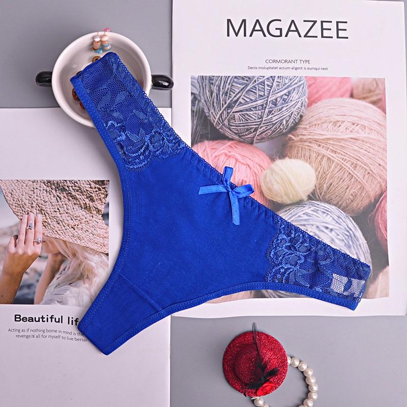 Cotton Thong Women's Panties Underwear Women Lace Soft Briefs Sexy Lingerie low Waist lingerie g-string 1pcs/Lot ac158