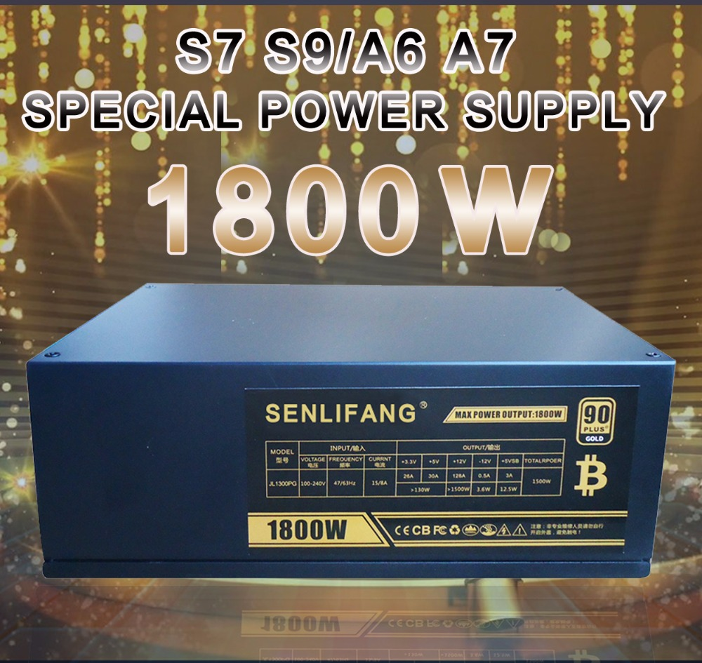 New and original 1800W Miner Mining Dedicated Power Supply For S7 T9 E9 A4 A6 A7 Power Supply For BTC 6 months warranty new original xs7c1a1dbm8 xs7c1a1dbm8c warranty for two year