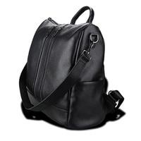 Genuine Leather 2018 Women Shoulder Bag Cow Soft Solid Creative Female Three Strips Fashion Bag Brand Casual Crossbody Bag