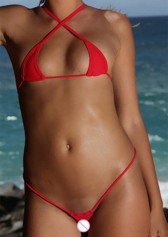 sentar arcilla Volverse  Mini Micro Bikinis Set Women Cotton Mesh Transparent Sexy Swimwear  Bathingsuit Bandage Swimsuit Beach Triangle Top Thong String|Bikini Set| -  AliExpress