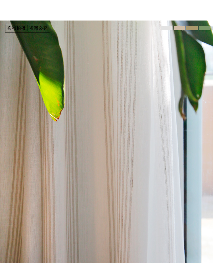 _08 White Tulle Curtains For Livingroom Striped Voile
