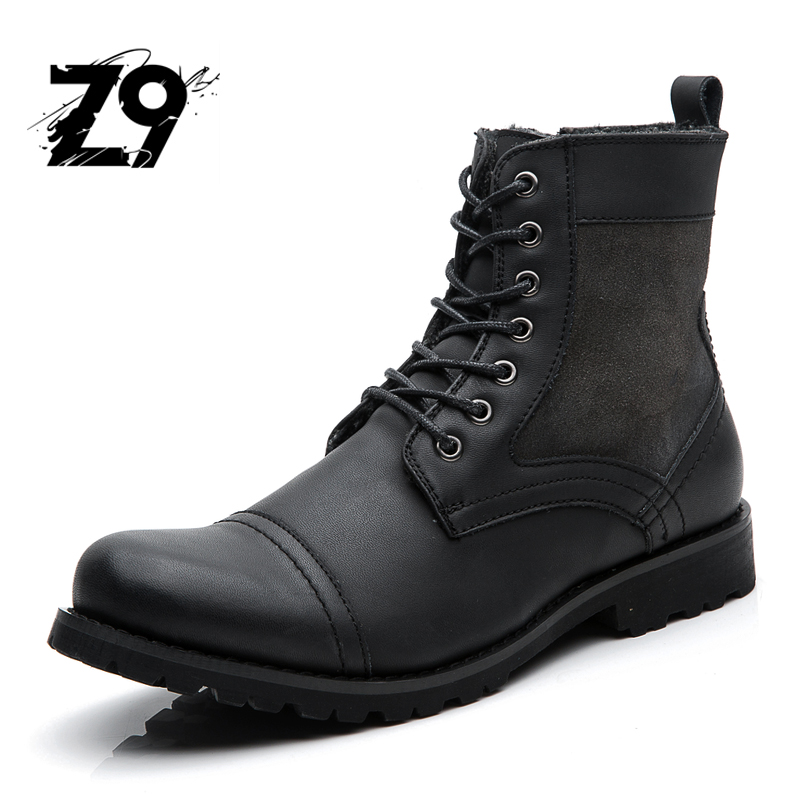 Top new men font b boots b font fashion casual high shoes font b cowboy b