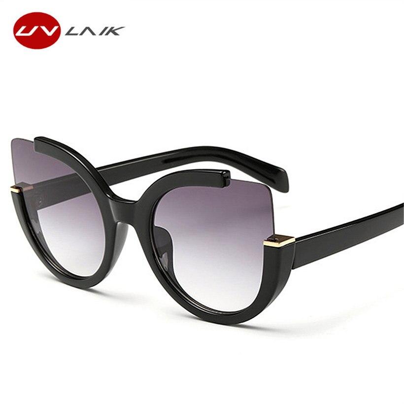 UVLAIK Kattögon Solglasögon För Kvinnor Överdimensionerade Kvinnor Cateyes Solglasögon Kvinnor Brand Designer UV400 Glasögon