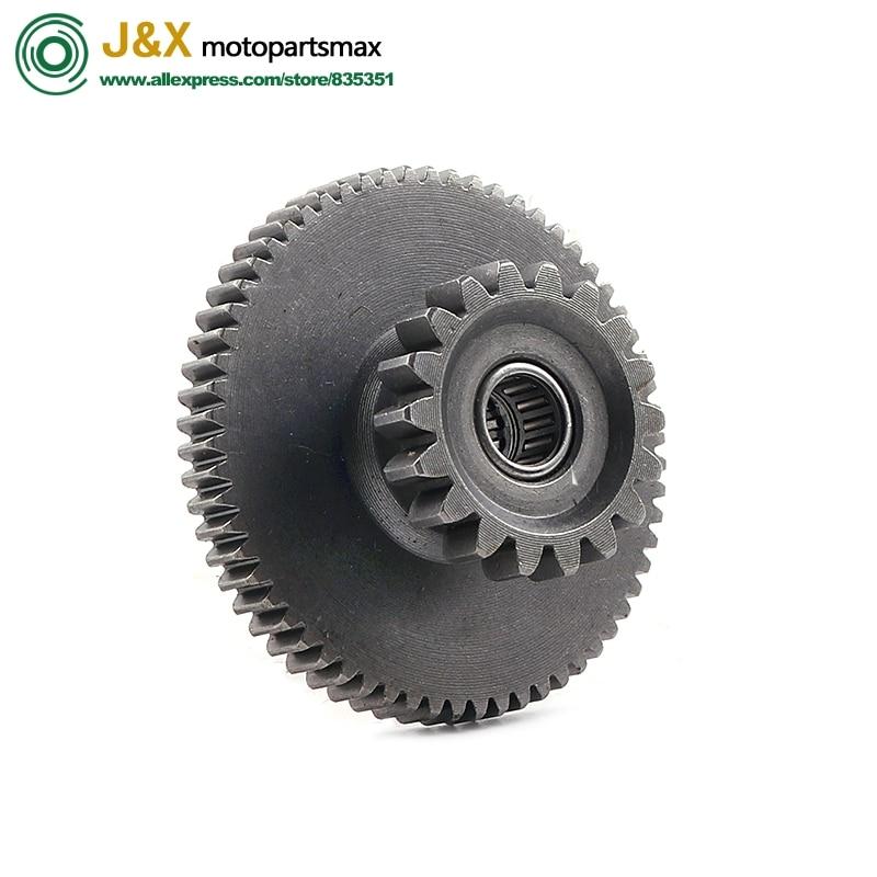 Free Shipping Gear Motorcycle Gear Starter CG125 CG150 CG175 CG200 Starter Clutch Gear Assembly 18T-62T