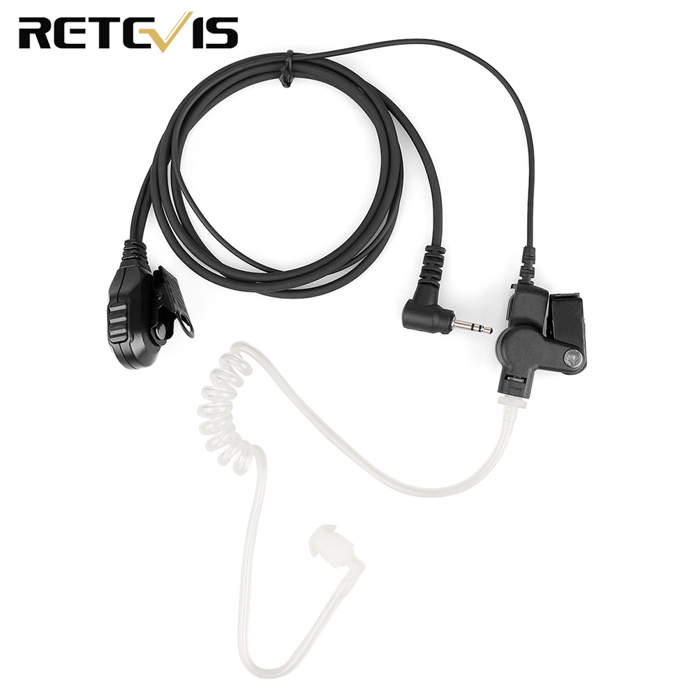 2.5mm VOX 2-Wire Air Tube Acoustic Surveillance Earpiece For Motorola T Series Retevis RT45 Two Way Radio Walkie Talkie