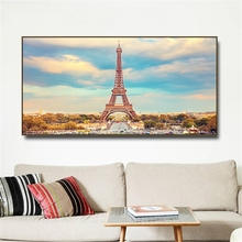 France Paris tower Scenery Canvas Painting & Calligraphy Poster Print Living Room House Wall Decor Art Home Decoration Picture