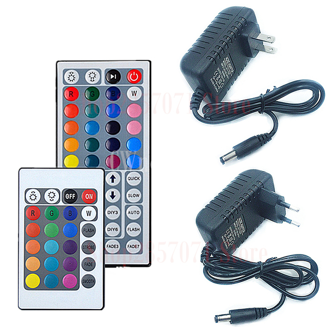 12V 2A EU US Power Adapter Remote Controller IR 24Key 44Key For SMD 5050 3528 Led Strip