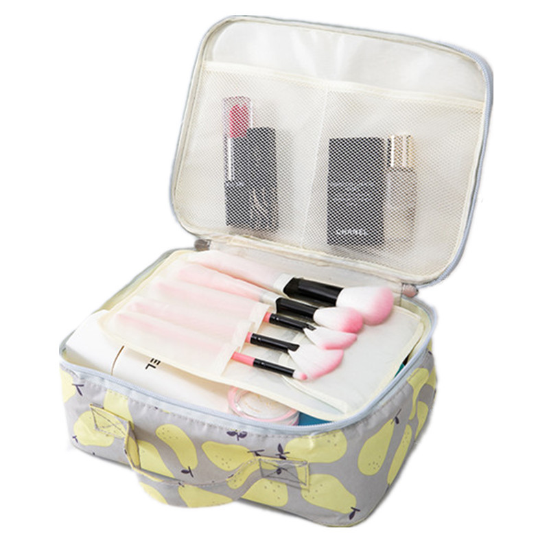 c05b660b191e Beautician Organizer Vanity Cosmetic Bag Women Beauty Makeup Cases Box  Female Necessaire Travel Waterproof Wash Toiletry Pouch