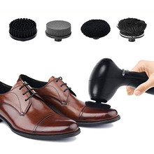 New Battery Powered Handheld Automatic Electric Shoe Brush Portable  Shine Polisher for Leather Bags Car Seat Cleaning Set handheld electric shoe polish machine mini automatic shoe cleaning machine used for leather shoes jacket bags ect